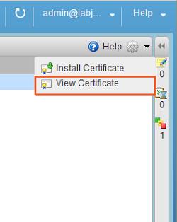 کلیک بر روی گزینهی View Certificate