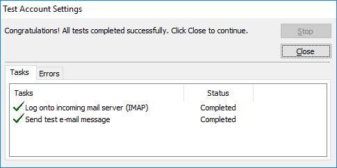 مرحله پنجم تنظیم ایمیل در اوت لوک