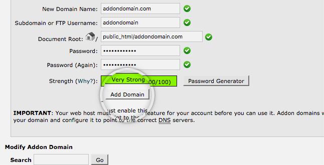 نحوه ایجاد addon domain