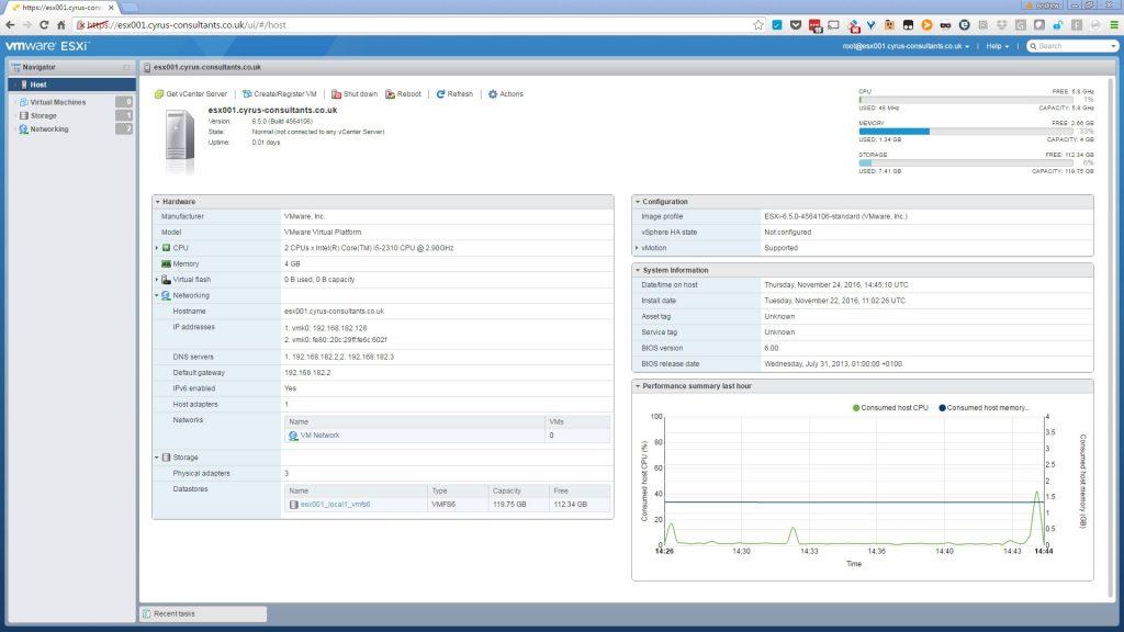 مرحله اول نصب ماشین مجازی در ESXi
