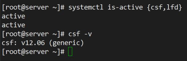 نصب و تنظیم CSF بر روی لینوکس