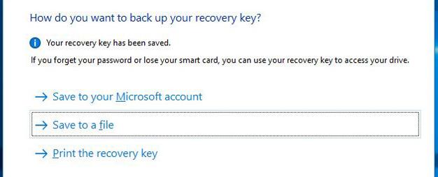 اضافه کردن کلید بازیابی یا Recovery Key