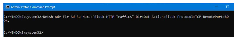 مسدود کردن پروتکل HTTP