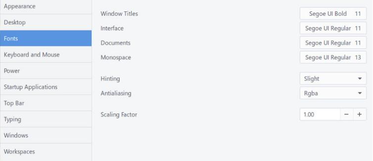 نصب و تنظیم فونتهای Segoe UI در Gnome UI در اوبونتو 17.10 به بعد