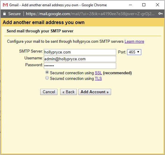 اتصال ایمیل سی پنل به جیمیل