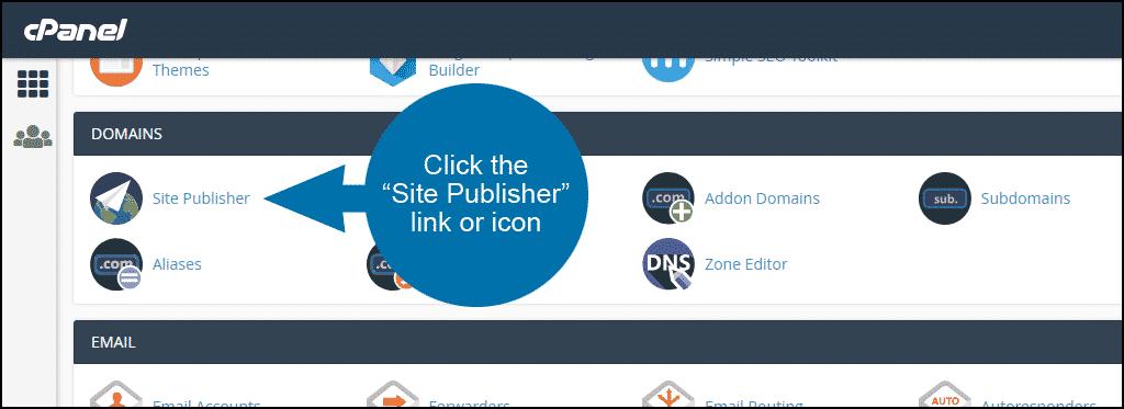 آموزش کار با Site Publisher در سی پنل