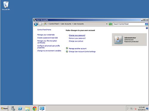 تغییر رمز سرور مجازی ویندوز