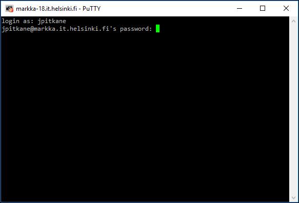 نرم افزار PuTTY