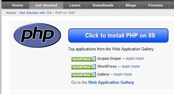 نصب PHP روی IIS
